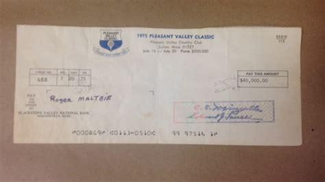 deutsche bank cheque roger maltbie reunited with 41 year check