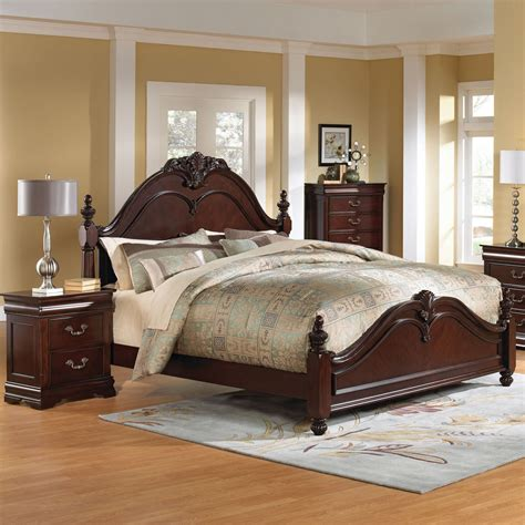 Cherry Bedroom Furniture Standard Furniture Westchester 3 Poster Bedroom Set In Cherry Beyond Stores