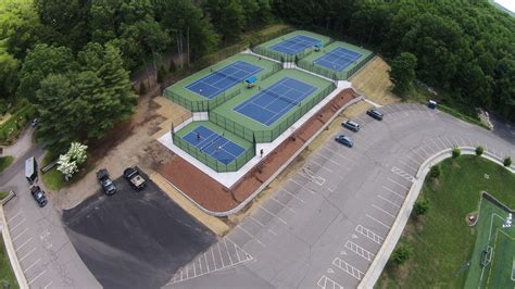 england post tension concrete tennis courts