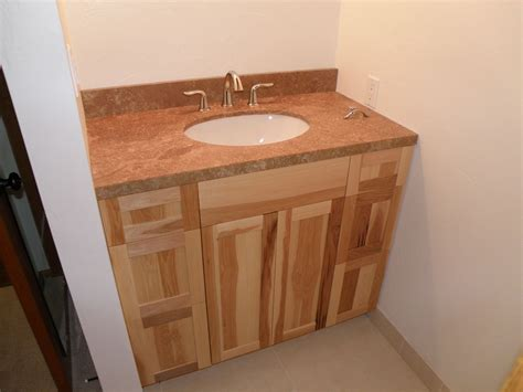 custom made hickory vanity by wood wise productions