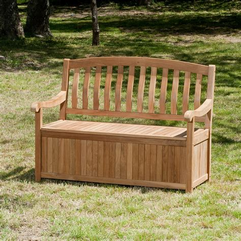 outdoor wooden bench with storage benches for sale hayneedle com