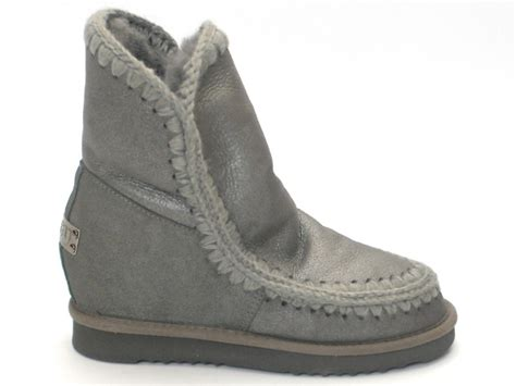 mou boots mou boots eskimo new metal grey inner wedge niutrack
