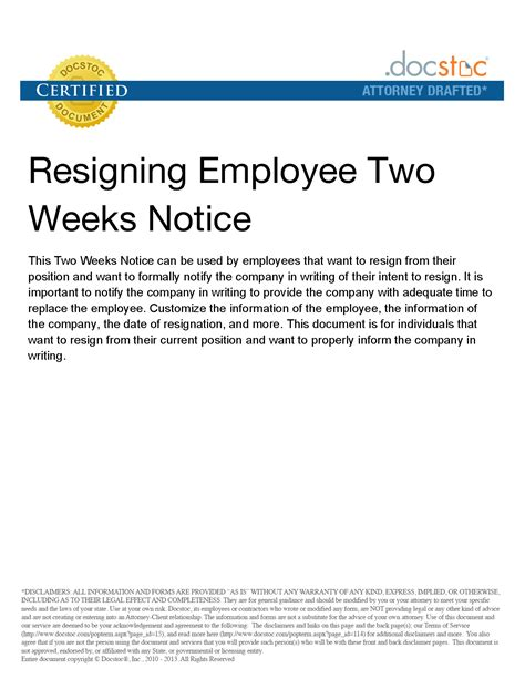 resignation letter 2 week notice gplusnick