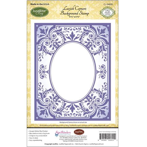 Justrite Papercraft - justrite papercraft cling background st lavish corners