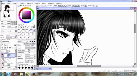 paint tool sai black hair tutorial paint tool sai coloring black hair in realtime
