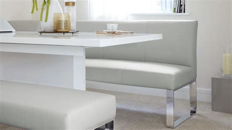 white gloss dining bench 5 seater left hand corner bench and extending dining table