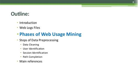 pattern discovery web usage mining ppt preprocessing of web log data for web usage mining