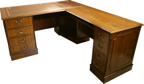 L Shaped Computer Desk Uk Yew And Mahogany Reproduction Bespoke Desks A1 Furniture