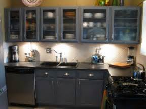Painted Kitchen Cabinet Ideas by Kitchen Grey Purple Kitchen Cabinet Painting Color Ideas