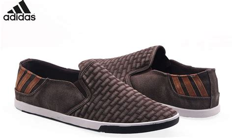 s footwear adidas brown suede back striped loafer shoes ad3