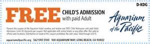 Aquarium Coupon Aquarium Of The Pacific Coupon Kidsguide Magazine
