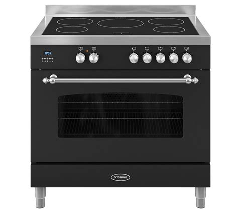 electric oven with induction hob buy britannia fleet 90 single electric induction range cooker black free delivery currys