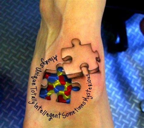 autism puzzle piece tattoo autism i m thinking about getting with adraya s