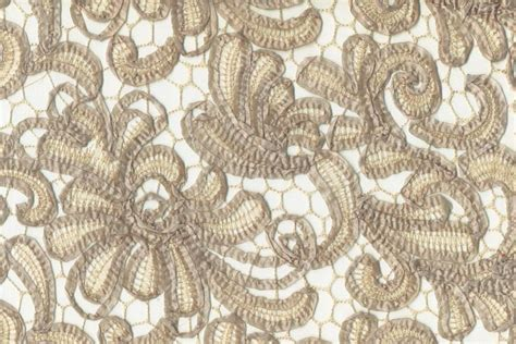 sequins and designs taupe lace linen and runners price upon request
