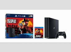 PlayStation 4 (1TB) Pro Red Dead Redemption 2 System ... Gamestop Ps4 Pro Bundle