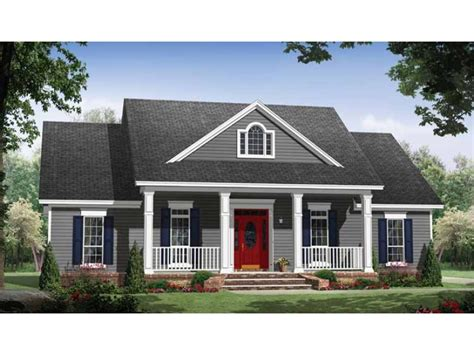 Small Country Home With Large Porches Hwbdo69623 Country House Plans With Porch And Big Kitchen