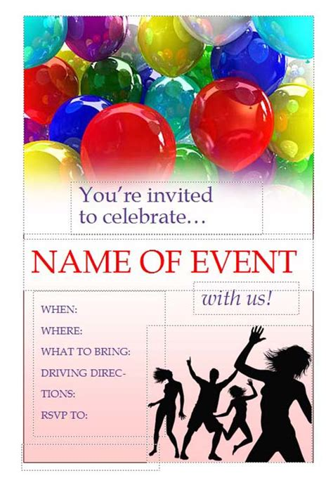 birthday invitation flyer template printable invitation flyers free flyers