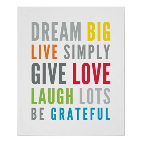 inspiration bright colored bedrooms live learn and life mantra positive cool typography bright colors poster