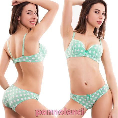 Set Polka Dot Push Up Bra set set bra polka dot