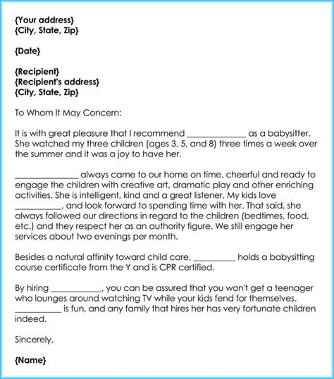 100 Childcare Cover Letter Example Professional Sample