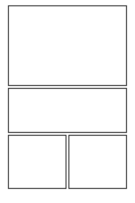 Comic Clear 19 By Comic Templates On Deviantart Comic Frames Template
