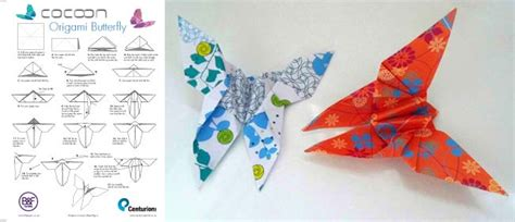 Origami Butterfly Pdf - origami butterfly tutorial
