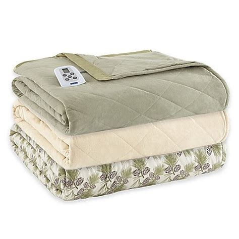 electric blanket bed bath and beyond micro flannel 174 electric heated comforter blanket bed
