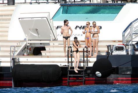 ali lohan tattoo lindsay lohan vacations on a yacht zimbio