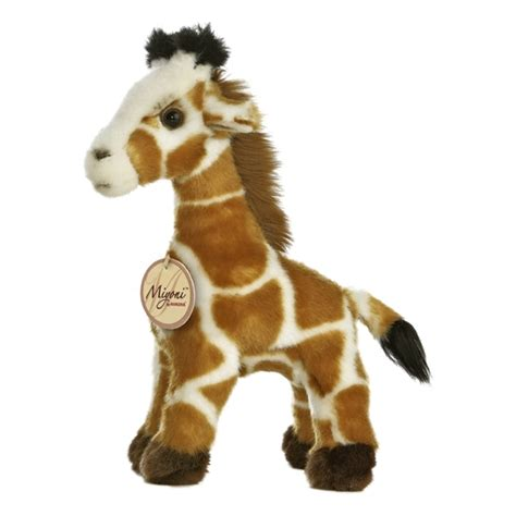 realistic stuffed giraffe 9 inch plush animal by