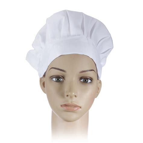 cook hat adult elastic white chef hat baker bbq kitchen cooking hat