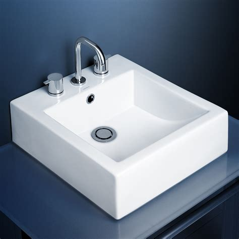 Bathroom Basins And Vanities by Caroma Liano Above Counter White Vanity Basin 1 Tap