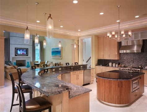 curved kitchen designs 18 curved kitchen island designs ideas design trends