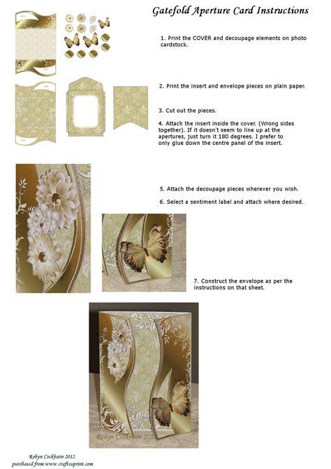 how to make an aperture card gatefold aperture card