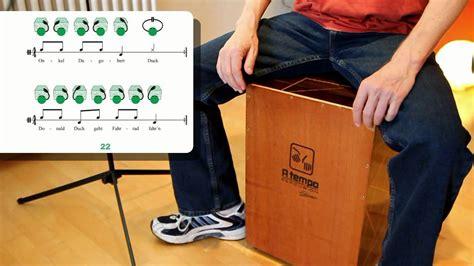 cajon youtube lernen caj 211 n lernen instrument rhythmen mit sprechsilben s