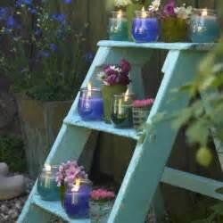 outdoor garden decorations made of wooden ladders outdoor garden decorations made of old wooden ladders
