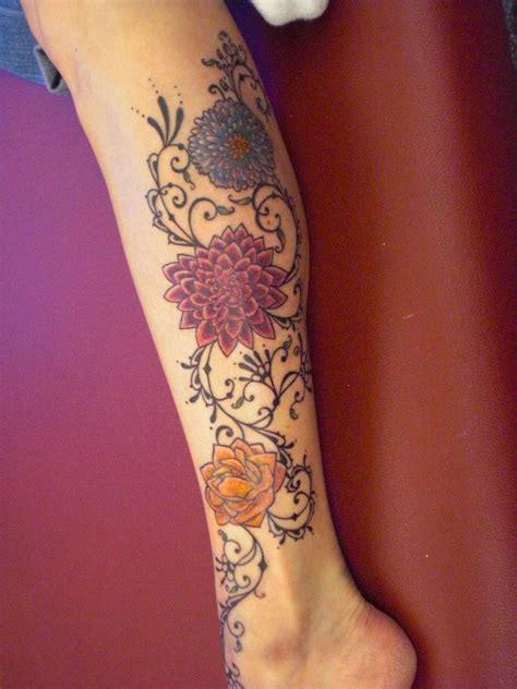 girly thigh tattoos feminine calf tattoos leg designs 2014 tattoos