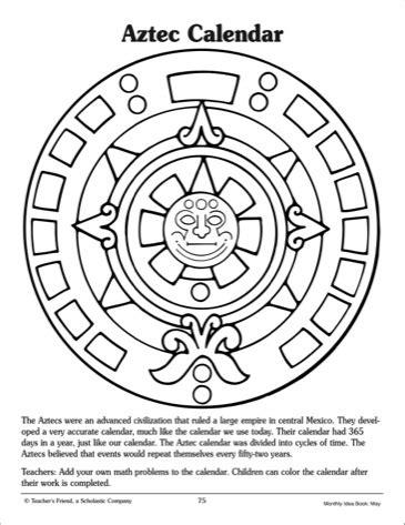 aztec pattern drawings color aztec calendar clipart 38