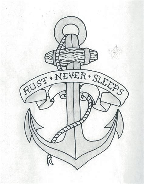 tattoo drawings designs and sketches anchor pencil and in color anchor