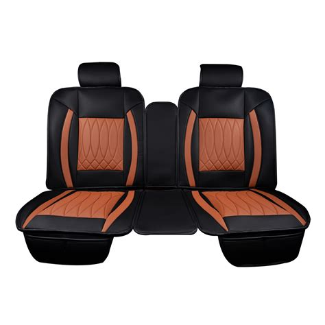 back seat bench cover luxury series saddle brown car rear seat covers masque