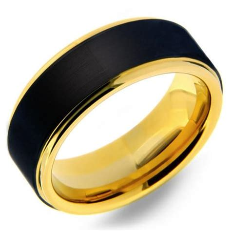 Ee  Mens Ee   Mm  Ee  Tungsten Ee   Carbide Ring With Black Matte Finish