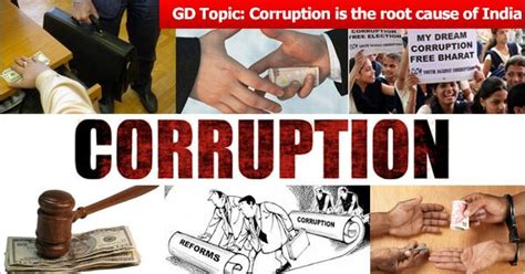 Gd Topics For Mba by Gd Topic For Mba Corruption Is The Root Cause For Indian