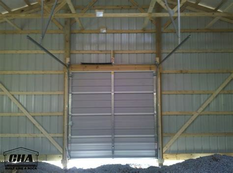Non Insulated Garage Doors Custom Pole Barn Building Options Interior Exterior Pole Barn Builders Pa