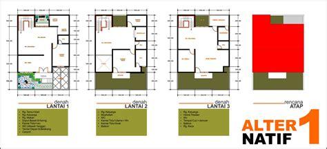 denah rumah 3 lantai adit34