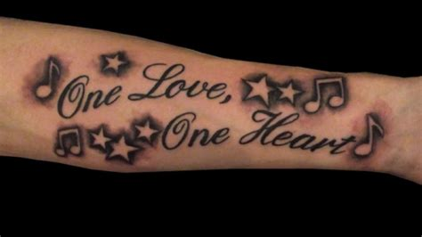 song lyric tattoos designs 25 awesome note tattoos creativefan