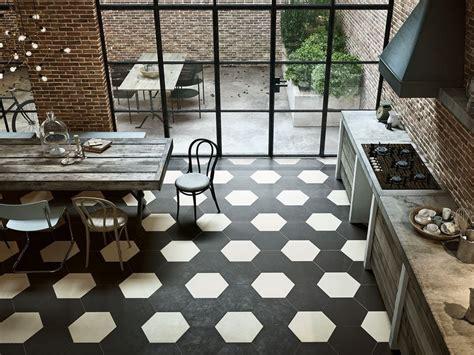 pavimento bianco e nero pavimento esagonale in gres porcellanato bee iperceramica