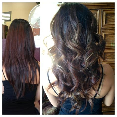 before and after pictures of balayage before and after balayage ombre yelp