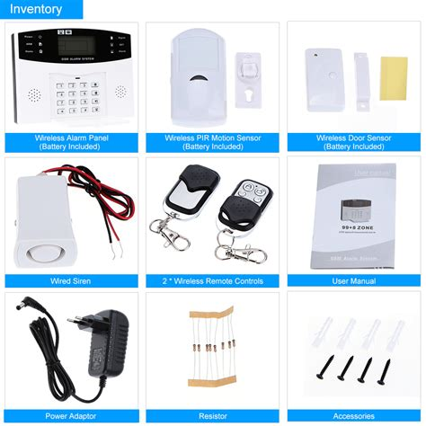 Top Gsm Alarm Rumah 433 Mhz Led Display Touch Screen Password Keyb sms gsm nirkabel sistem alarm keamanan rumah pencuri alat