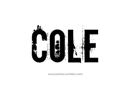 cole name tattoo designs