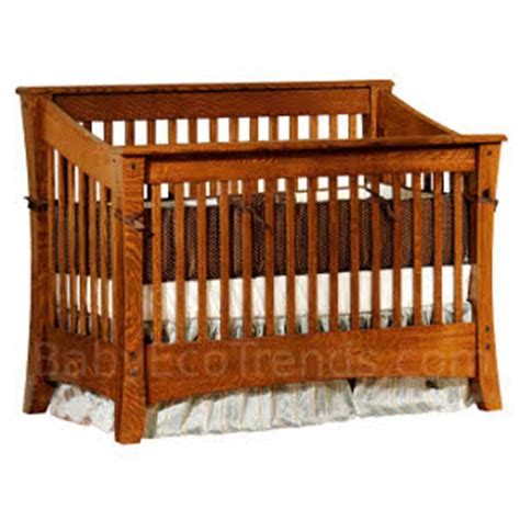 Amish Cribs by Solid Wood Cribs Amish 4 In 1 Convertible Crib Cambria