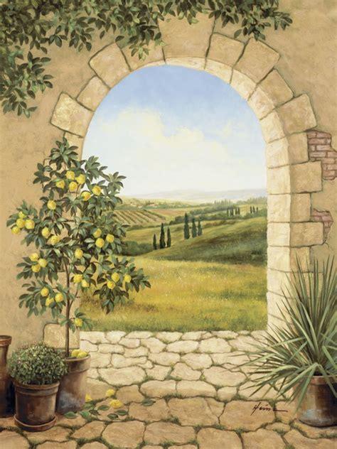 mediterrane wandbilder a heins zitronenbaum vor m torbogen kunstdruck auf
